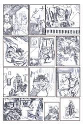Sabrina Meets Hellboy Pencils by RobertHack