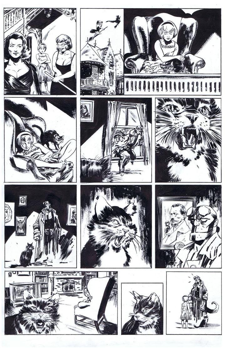 Sabrina Meets Hellboy Inks by RobertHack
