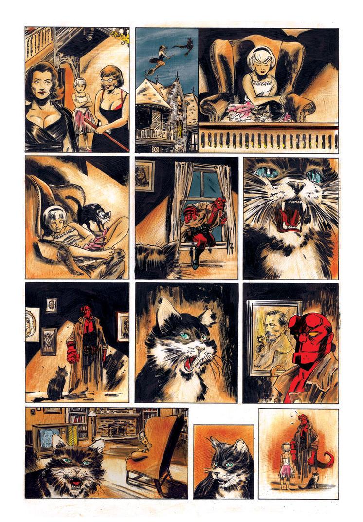 Sabrina Meets Hellboy color by RobertHack