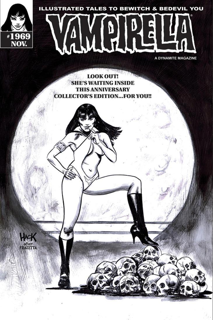 Vampirella #1969 B/W variant cover. by RobertHack