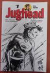 Jughead as Captain Hero sketch cover NYCC2015