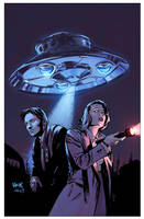 The X-Files Season 11 #8 variant cover by RobertHack