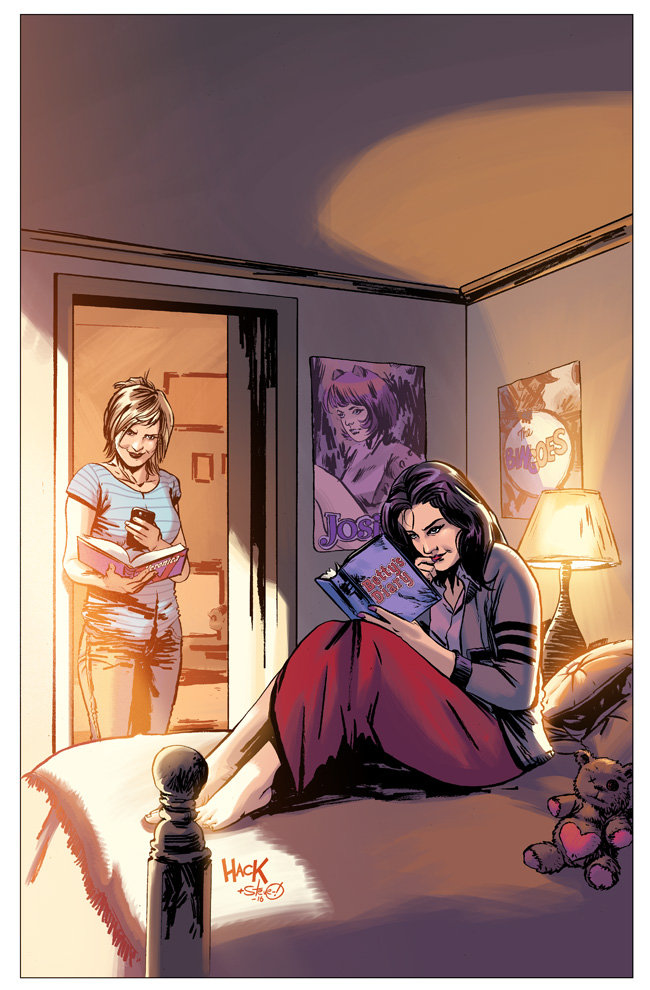 Betty and Veronica #1 variant cover by RobertHack