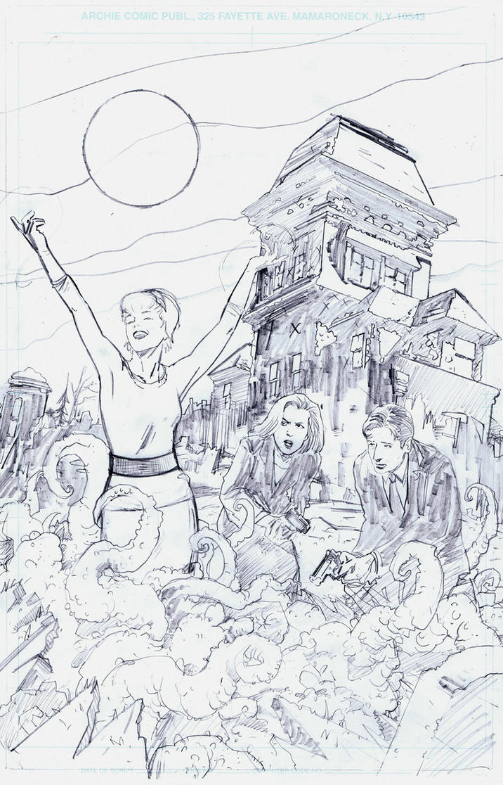 X-Files Season 11 #5 cover pencils by RobertHack