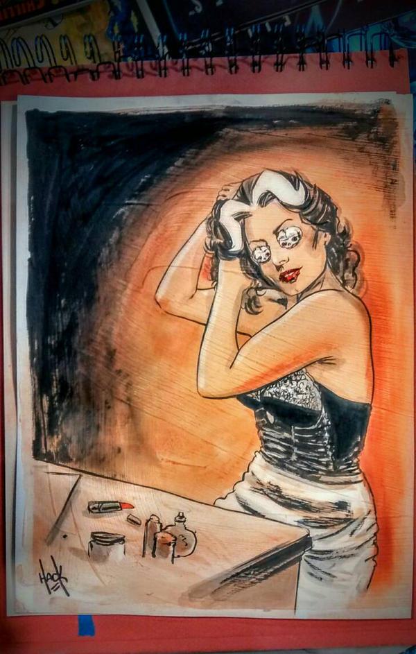 Madam Satan convention sketch by RobertHack