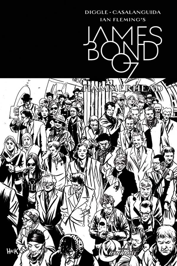 James Bond: Hammerhead cover inks by RobertHack