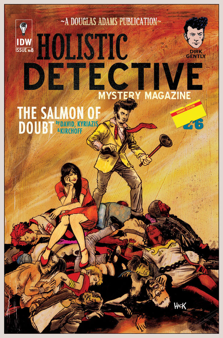 Dirk Gently: The Salmon of Doubt #8 cover by RobertHack