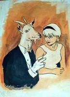 Sabrina avec goat.  by RobertHack