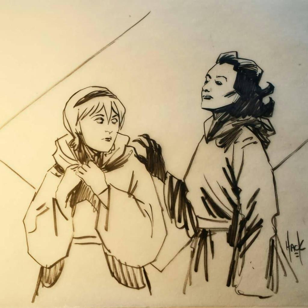 Sabrina and Aunt Zelda doodle by RobertHack