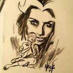 Sabrina and Madam Satan doodle