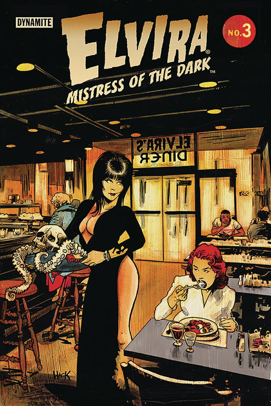 Elvira: Mistress of the Dark #3 cover  by RobertHack