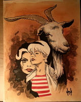 Chilling Adventures of Sabrina con sketch by RobertHack