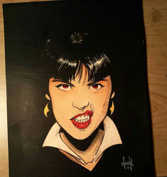 The Sneer of Vampirella!  by RobertHack