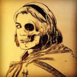 Sabrina doodling.