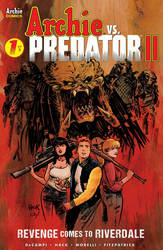 Archie VS Predator II #1  cover by RobertHack