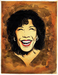 Lily Tomlin portrait  by RobertHack