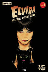 Elvira Mistress of the Dark #5 variant cover by RobertHack