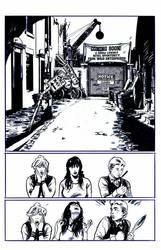 Archie VS Predator 2 #1 page 5 inks