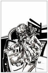Archie VS Predator 2 #1 cover inks