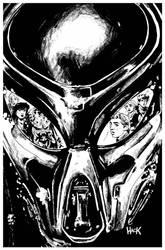 Archie VS Predator 2 #5 cover inks