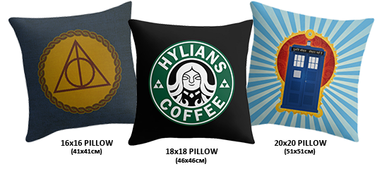 Small, medium, large pillow covers (inserts are available)