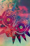 Watercolored Majora's Mask