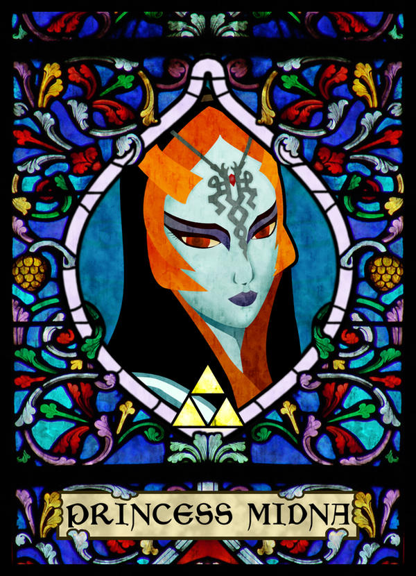 Stained Glass Midna by ever-so-excited