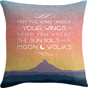 A Wizard's Well Wishes throw pillow