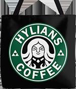 Hylians Coffee tote bag