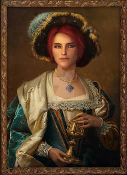 Portrait of Triss Merigold, a Temerian Noblewoman