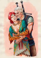 Triss Merigold + Geralt of Rivia by PiraWTH
