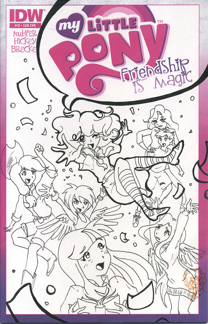 MLP Comic Cover by KitBashCreations
