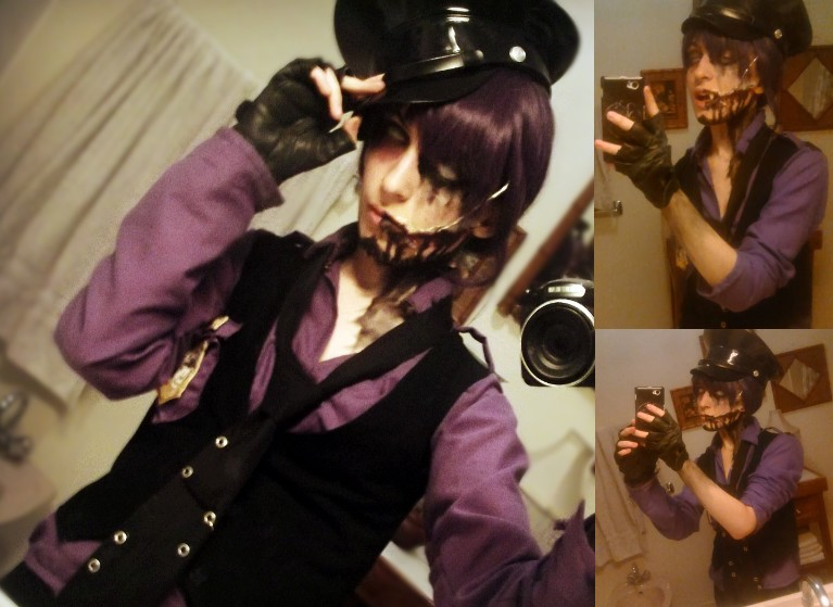 Nightmare purple guy makeup test fnaf cosplay by alicexliddell on