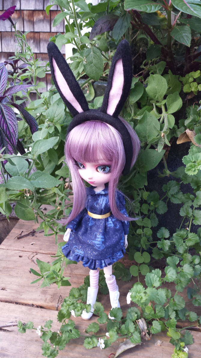 Black Bunny Ears for Pullip Doll
