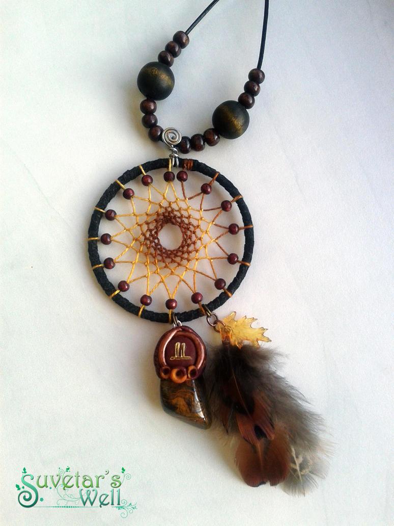 Oak spirit dreamcatcher pendant by suvetarswell on deviantart oak spirit dreamcatcher pendant by suvetarswell aloadofball Choice Image