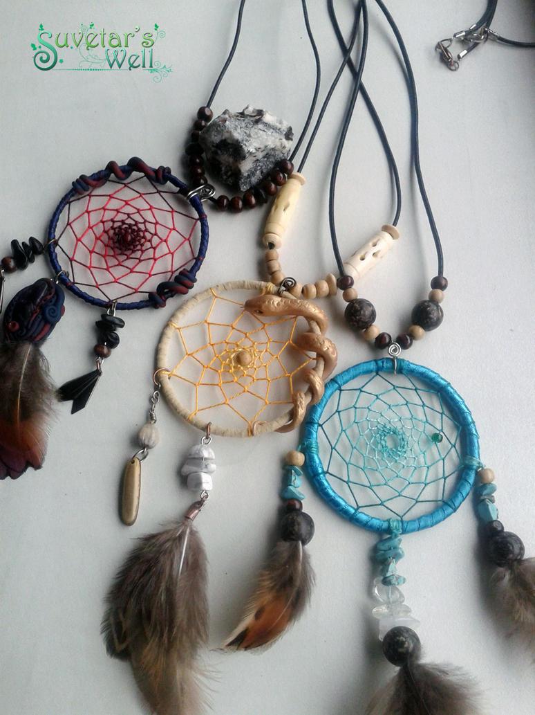 Dreamcatcher pendants ii by suvetarswell on deviantart dreamcatcher pendants ii by suvetarswell aloadofball Choice Image