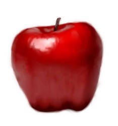 i painted an apple