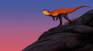 Ceratosaurus sunset