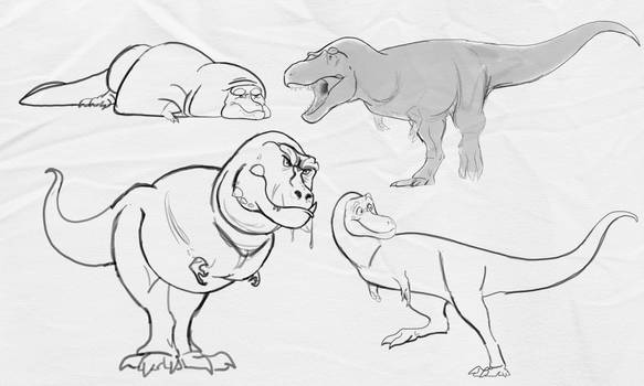 T. rex character design exercise
