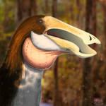 Deinocheirus portrait