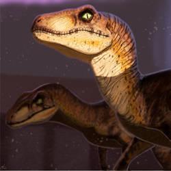 Jurassic Park Velociraptor Portrait