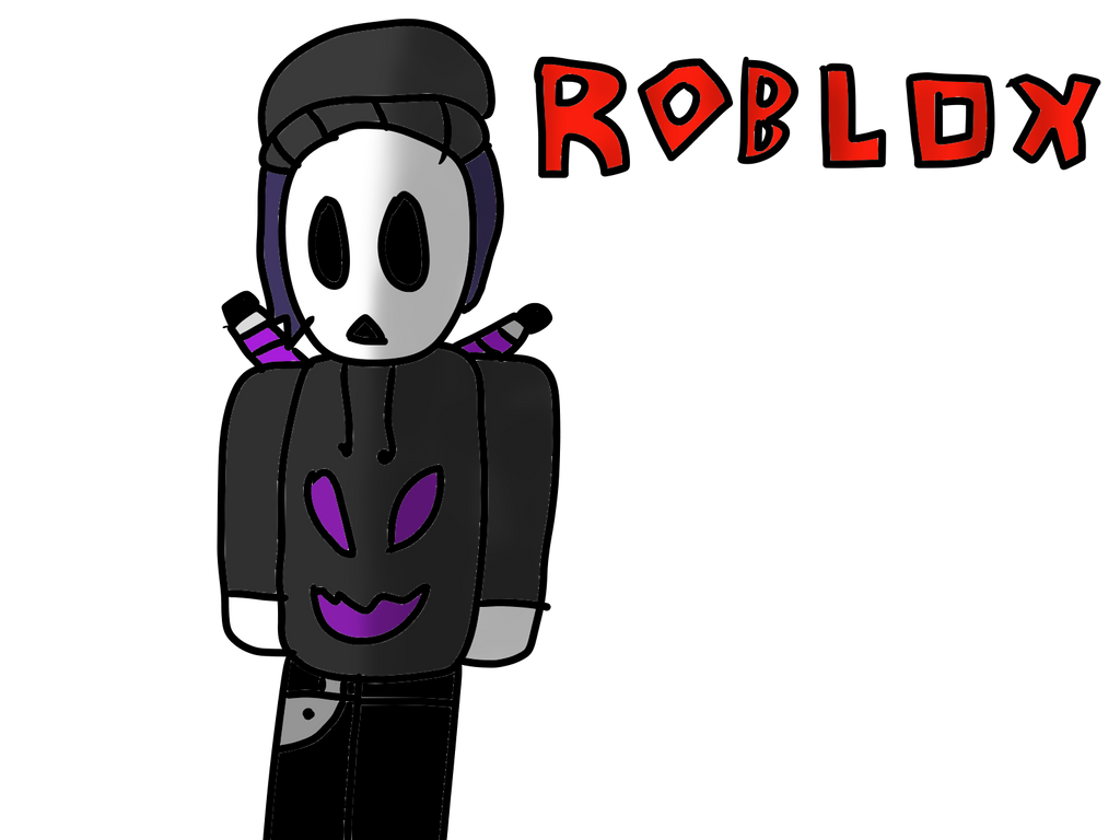My Roblox Character Drawing By The8bitdj On Deviantart