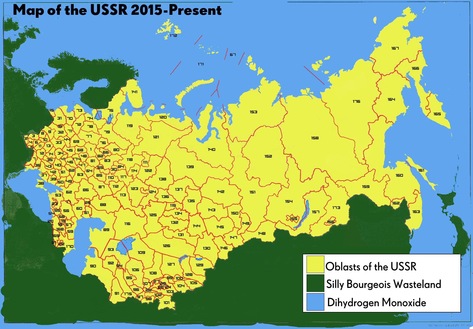 Map ussr