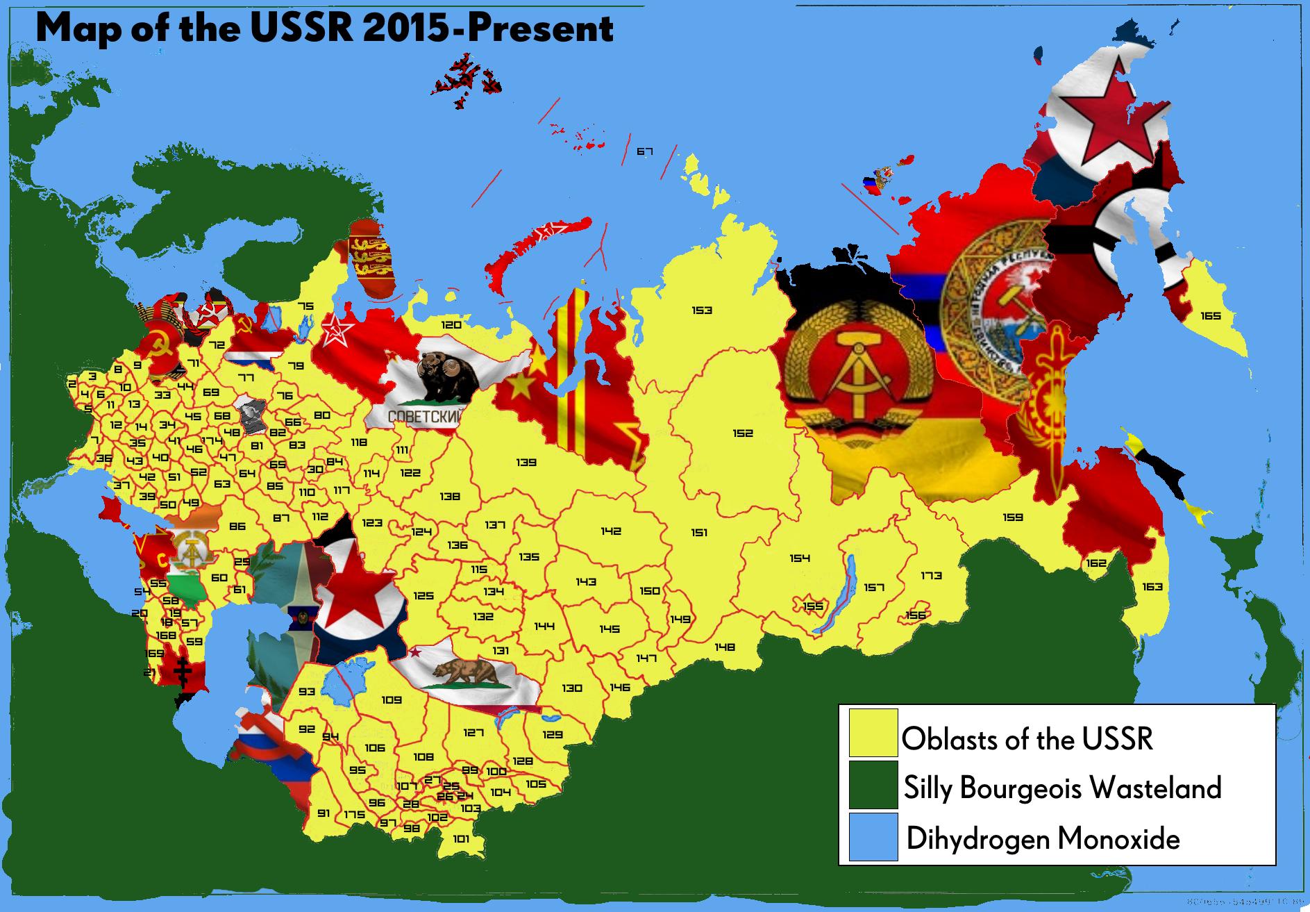USSR Map Filled by mclj10 on DeviantArt
