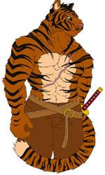 Marupa, as a tiger. by Marupa