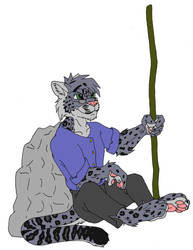 Marupa, as a Snow Leopard by Marupa