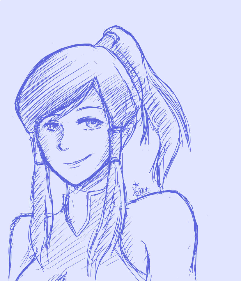 LoK sketches: Korra by Evurinn