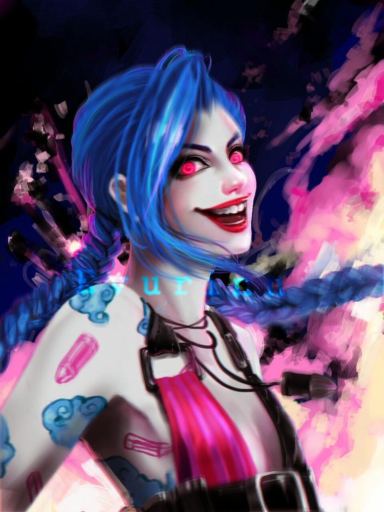 Jinx redraw by Evurinn