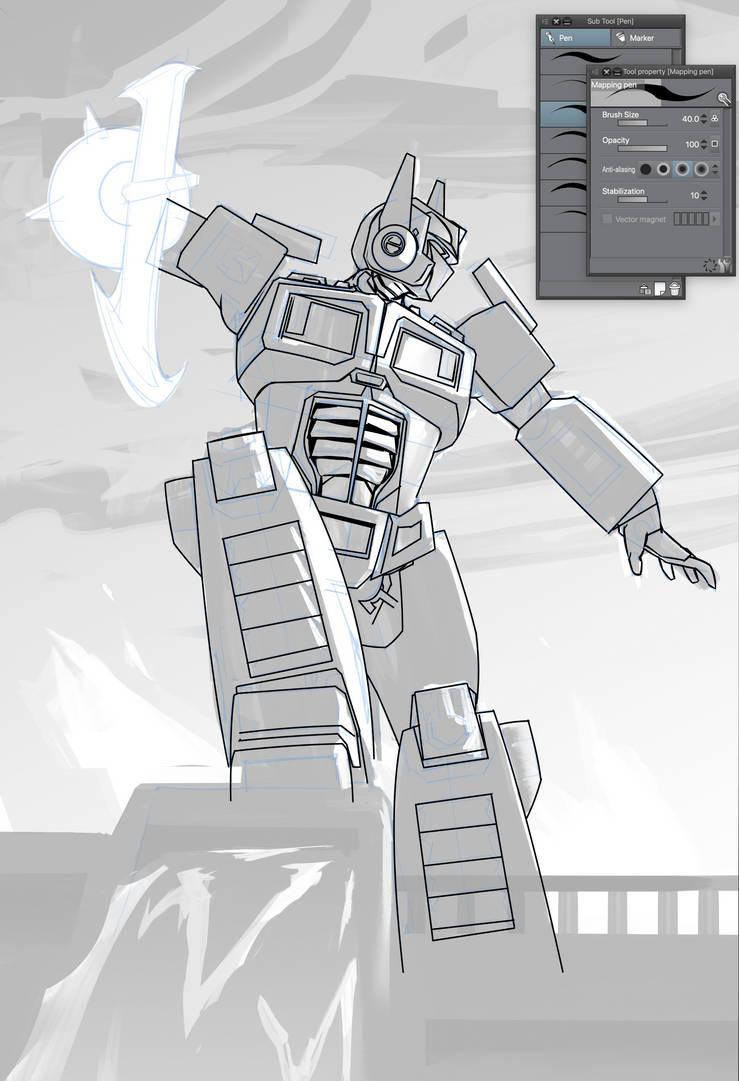 Optimus Prime Work in Progress by JoeMKennedy