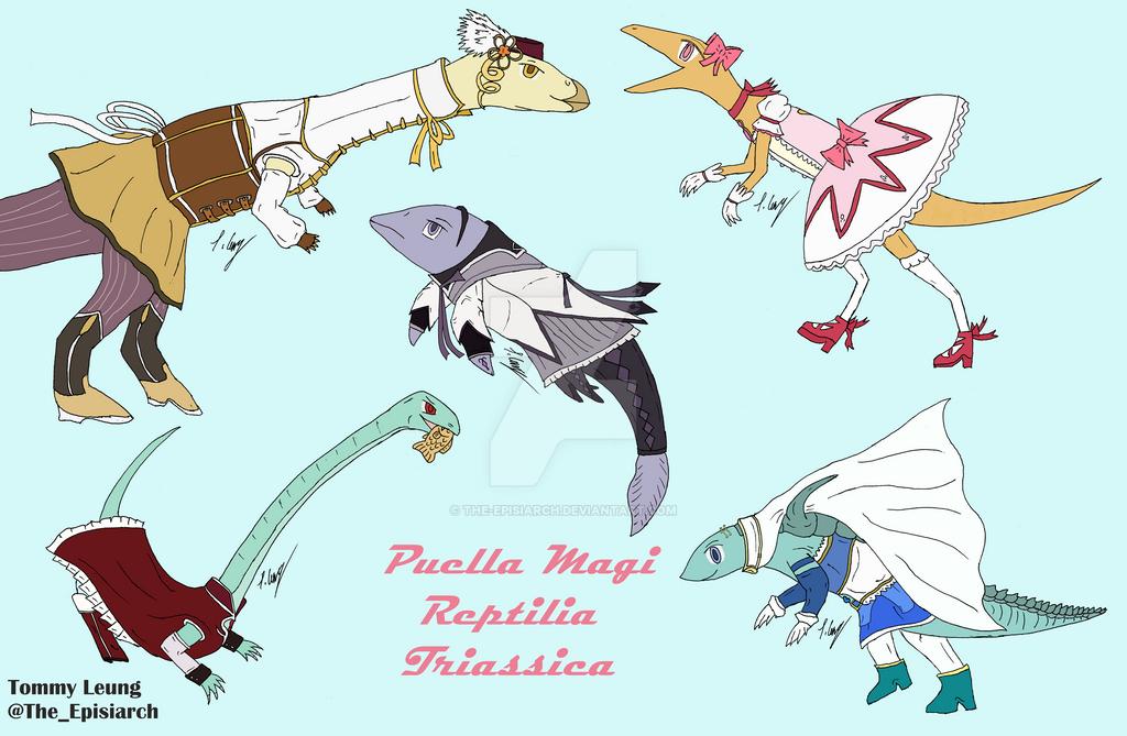 Puella Magi Reptilia Triassica by The-Episiarch